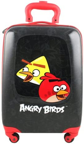 Angry Birds Hardshell Spinner Rolling Luggage Case Black