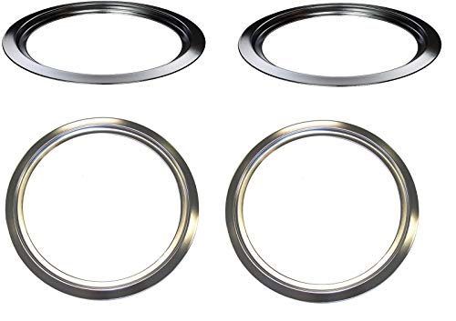 ((RB) GB2,WB31X5013 /2, WB31X5014 /2 Range Burner Chrome trim Ring Set for GE)