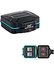 JJC Deluxe 8 Slots Compact Memory Card Case Holder Box Organizer for SD microSD SDXC microSDXC SDHC microSDHC TF Card, Travel-Friendly Memory Card Container with Water-Resistant & Shockproof Function