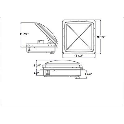 Maxxair 0004500K MaxxFan Smoke Standard Remote Fan Lid: Automotive