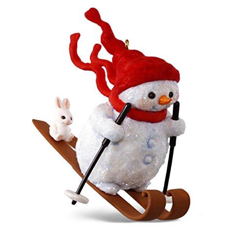 Hallmark Keepsake 2017 Mary Hamilton's Skiing Snowman on the Slopes Christmas Ornament (Snowman Skiing)