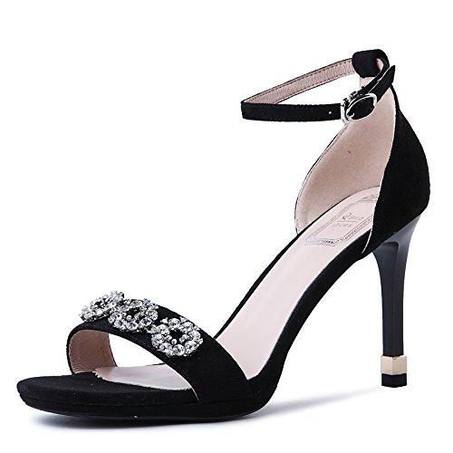 Verano De Home Sandalias Zapatos Diario Shoes negro Tacones Alta Un GAOLIM Heel Mujer De FEwxUUqp