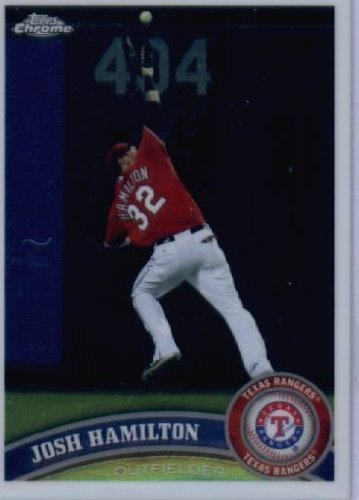 2011 Topps Chrome Baseball Card #60 Josh Hamilton - Texas Rangers - MLB Trading Card