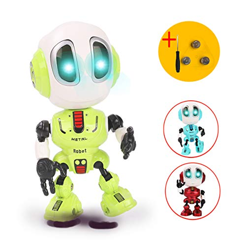 Talking Robots for Kids, Mini Robot Toys That Repeats What You Say with Colorful Flashing Lights to Help Toddlers Talking, Toys for 3,4,5,6+ Years Old Boys and Girls Gift (Green)