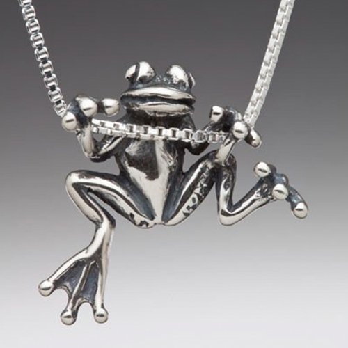 Frog Necklace Silver Tree Frog Charm