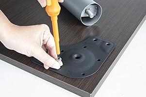 EMUCA - Patas de Mesa Regulables Ø60x710mm, Kit de 4 Patas de Acero, Altura Regulable 710-730mm, Color Blanco: Amazon.es: Bricolaje y herramientas