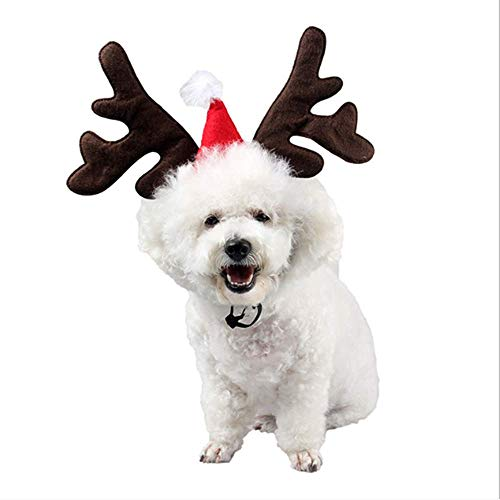 Hoter Dog Christmas Reindeer Antlers Headband Pet Costume Accessory for Xmas