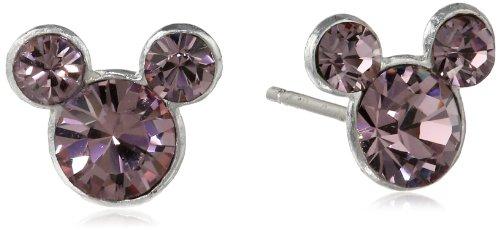 Disney Mickey June Crystal Stud Earrings (Disney Stud Earrings)