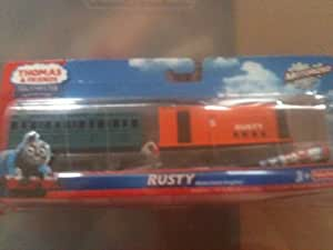 Thomas & Friends Trackmaster Rusty with Green Passenger Car