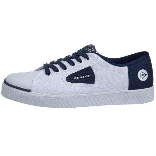 Dunlop 501-010016-M10 - Zapatillas de deporte de lona para hombre, color blanco, talla 44.5