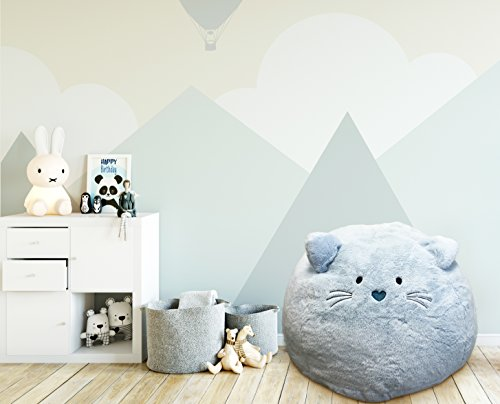 Beanbag For Kids Soft And Comfortable Stuffed Bean Bag Chair For The Nursery, Cute Animal Design For Boys And Girls, Lux Plush Fabric, For Children Of All Ages 30 x 30 x 20 Kitty