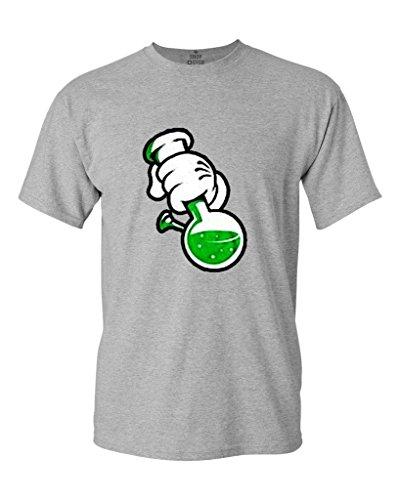 Shop4Ever Cartoon Hands Bong T-shirt Weed Shirts XXXXX-LargeSports Grey 0