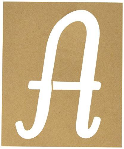 Plaid PLA50321 Stencil Folk-Art Paper Alphabet & Monogram Italic, (Alphabet Wall Stencils)