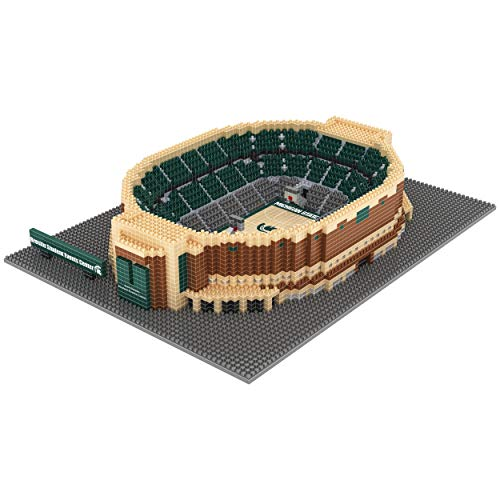 FOCO NCAA Michigan State Spartans 3D BRXLZ Basketball Arena Stadium Building Block Set3D BRXLZ Basketball Arena Stadium Building Block Set, Team Color, One -
