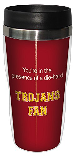 Tree-Free Greetings sg24932 Trojans College Basketball Sip 'N Go Stainless Steel Lined Travel Tumbler, 16 Ounce ()