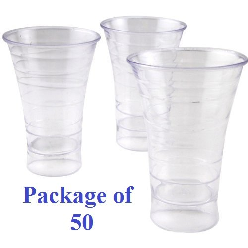 Polar Ice Disposable Plastic Spiral Shot Cups, 1.75 oz., Clear, Package of 50 ()