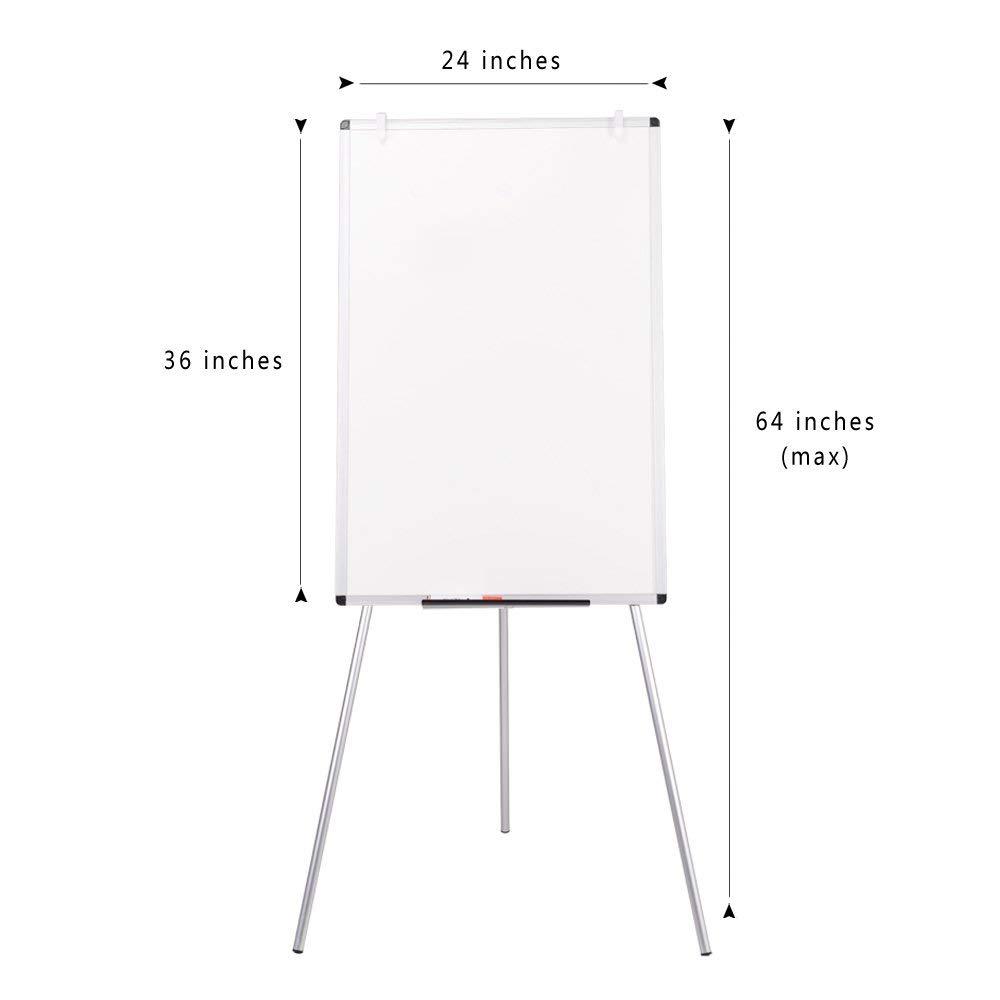 VIZ-PRO Light Melamine Tripod Whiteboard/Flipchart Easel, 24'' W x 36'' L (Renewed) by VIZ-PRO (Image #3)