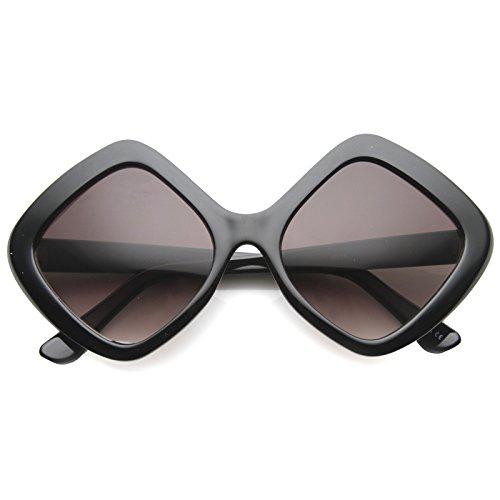 zerouv-womens-bold-diamond-shape-frame-gradient-lens-oversize-sunglasses-58mm-matte-black