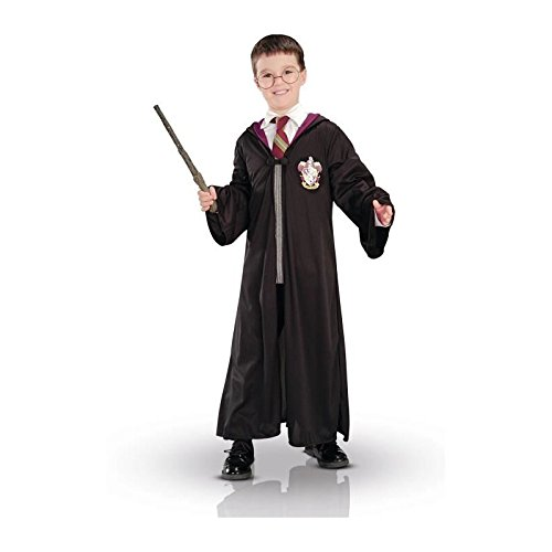 New Harry Potter Child's Costume Robe Wand Glasses Set