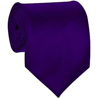 Solid Ties / Multiful color Formal Tie Dark Purple