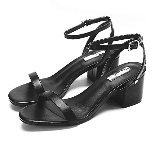 Chunk Heel Sandals Dress Block Women