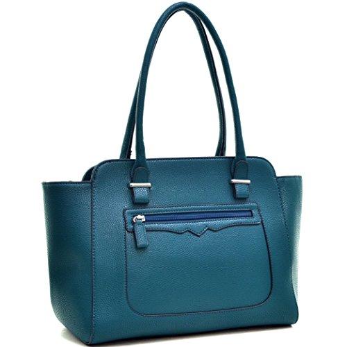 Bag Women Designer Travel Shopping Tote Work Purse Bag Dark Top Green Large Handle 173053 Bag Handbag UAcqwzUWH