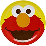 Zak! Designs Plate featuring Elmo from Sesame Street, Break-resistant and BPA-free Melamine, 8""