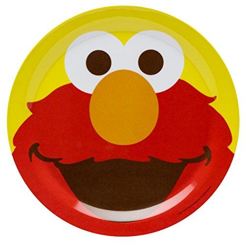 Zak! Designs Plate featuring Elmo from Sesame Street, Break-resistant and BPA-free Melamine, (Elmo Plate)