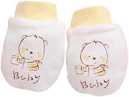 1 Pair Newborn Boys /& Girls Lovely Baby Soft Anti Scratch Mittens Gloves Cute