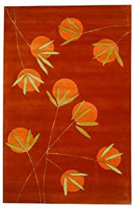 """3'6"""" x 5'6"""" Rectangular Safavieh Area Rug SOH304A-4 Rust Color Hand Tufted India """"Soho Collection"""""""