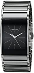 Rado Men's R20784159 Integral Black Dial Platinum Ceramic Watch