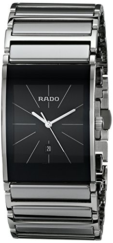 Rado Men's R20784159 Integral Black Dial Platinum Ceramic Watch