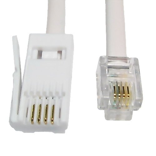 bt to rj11 4 pin fax modem cable 6m amazon co uk electronics