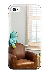 Cute High Quality Iphone 4/4s Blue Boys Room With Leather Chair 038 Stuffed Animal Case