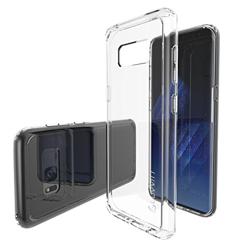 Galaxy S8 Case, LUVVITT [Clear View] Hybrid Scratch Resistant Back Cover with Shock Absorbing Bumper for Samsung Galaxy S8 – Clear