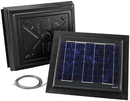 Broan 355RSOBK Remote Mount Solar Powered Attic Ventilator Black
