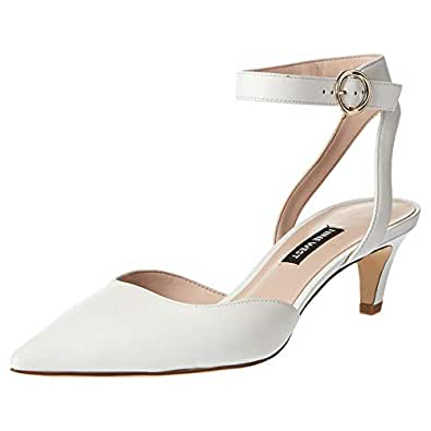 Nine West Quinteena Strap Heel For Women White Size 39 EU