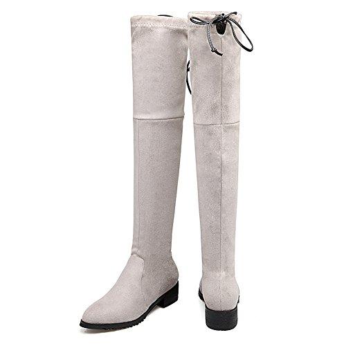 Silber Damen Solid Pull Polartec BalaMasa Fleece Stiefel On Fashion PR8qRSawp
