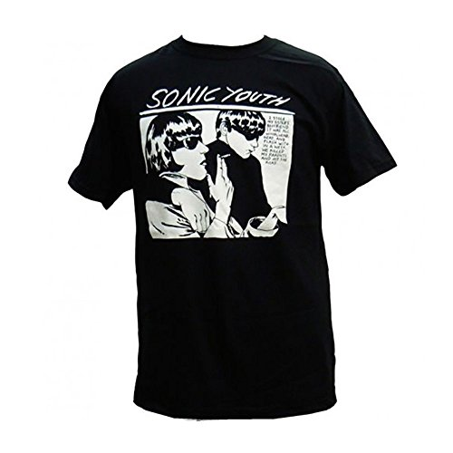 Sonic Youth Goo Men's Black T-Shirt (S) (Super Sonic Costume)