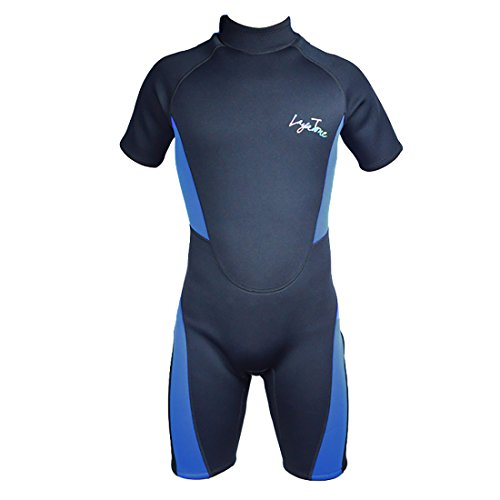 Layatone Mens Wetsuits 3mm Neoprene Thick Warm Shorty Wetsuit For Snorkeling,Diving and Surfing For Men (Black, 2X-Large)