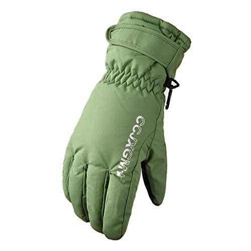 [해외]LuluZanm Motorcycle Gloves for WomenLadies Winter Keep Warm Windproof Waterproof Gloves Riding Ski Gloves / LuluZanm Motorcycle Gloves for Women,Ladies Winter Keep Warm Windproof Waterproof Gloves Riding Ski Gloves Green