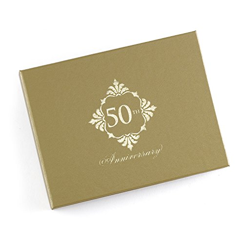 50th Wedding Anniversary Guest Book - Hortense B. Hewitt Golden Anniversary Guest Book, Gold