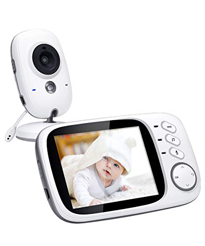 Govee Video Baby Monitor, 3.2 Inch Wireless Long Range with Digital Camera by Minger, Infrared Night Vision, Two Way Audio, VOX and Temperature Monitoring, 8 Lullabies and High Capacity Battery ()