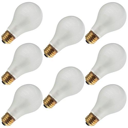 EIKO 75A19/RS 130V, 75 Watt, A19, Medium Screw (E26) Base Rough Service Light Bulb (8 Bulbs) (Bulb 130v Light Incandescent Eiko)