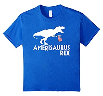 Amerisaurus Rex Shirt, Funy 4th of July Dinosaur USA Gift
