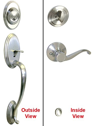 Satin Nickel Lock Door Lever Handle Entry Privacy Passage