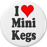I Love Mini Kegs 2.25' Bottle Opener w/ Keyring Heart Beer