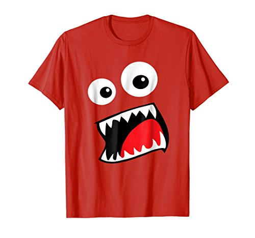 Mens Monster Halloween Costume Shirt Funny Couple Group Ideas XL Red -