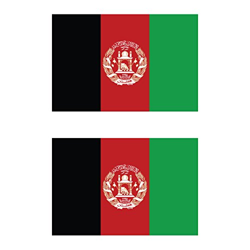 Two Pack Afghanistan Flag Sticker FA Graphix Decal Self Adhesive Vinyl AFG AF