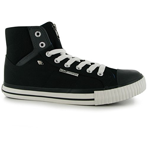 British Knights Opie Zip Hi Baskets pour homme BLK/GRY/BLU Chaussures Sneaker Chaussures